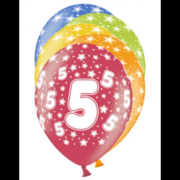 6 Motivballons - Ø 30cm - 5 Celebration
