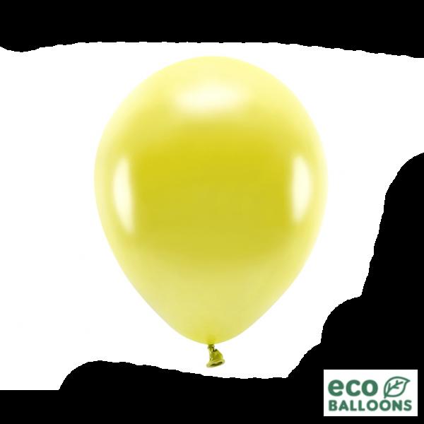 10 ECO-Luftballons - Ø 30cm - Metallic - Yellow