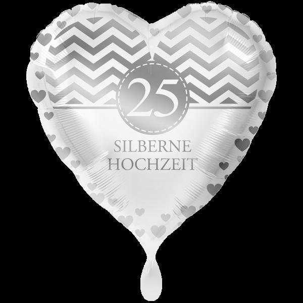 1 Ballon XXL - Silberne Hochzeit