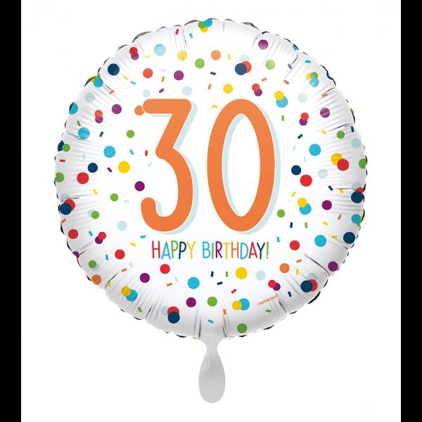 1 Ballon - EU Confetti Birthday 30