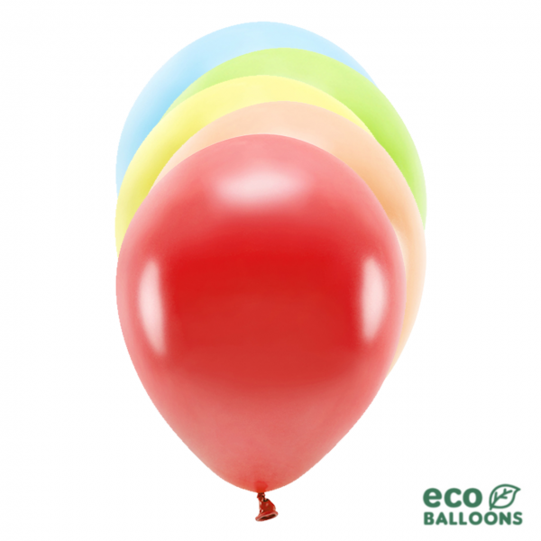 10 ECO-Luftballons - Ø 26cm - Metallic - Mix