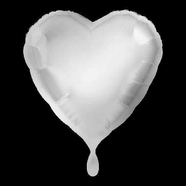 1 Ballon - Herz - Silber