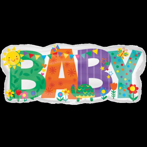 1 Ballon - Baby Banner Cute Icons - Ø 83cm