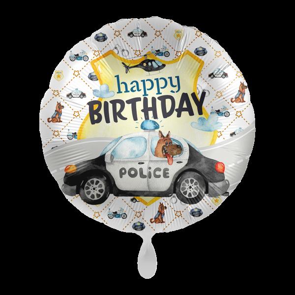1 Ballon - Police Academy - Happy Birthday