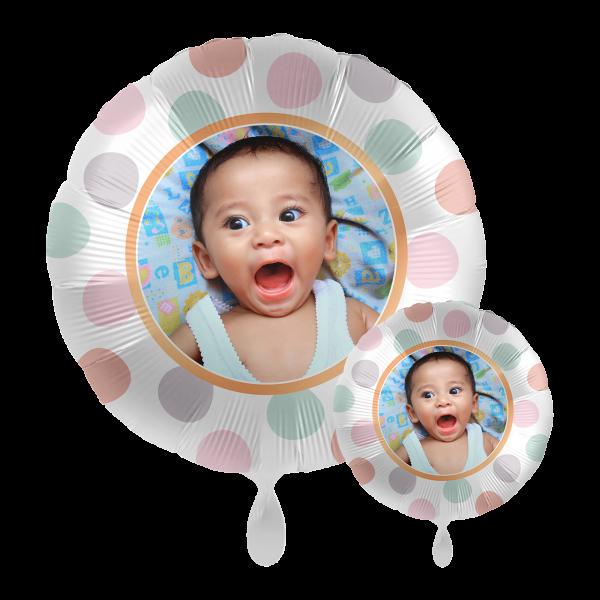 1 Ballon mit Foto - Dots