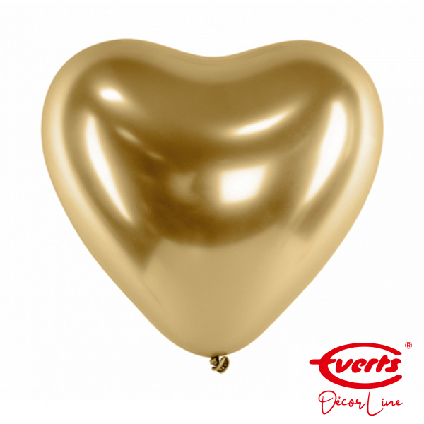 50 Herzballons - DECOR - Ø 30cm - Satin Luxe - Gold