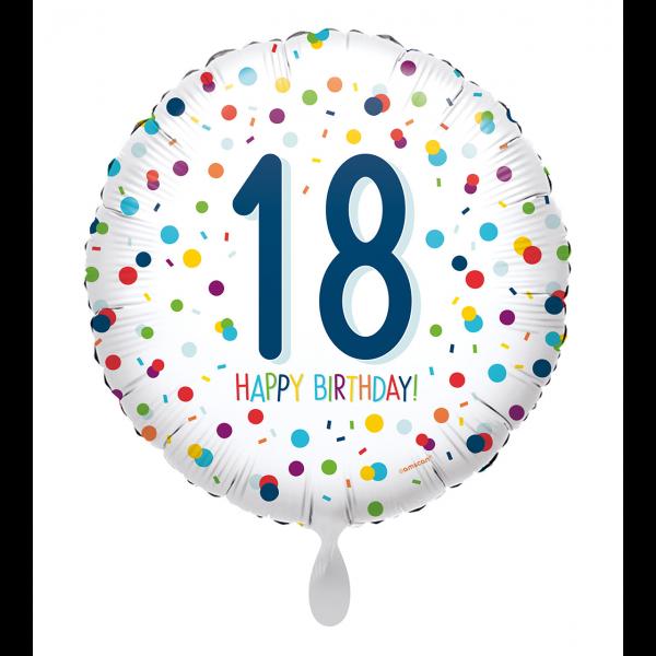 1 Ballon - EU Confetti Birthday 18