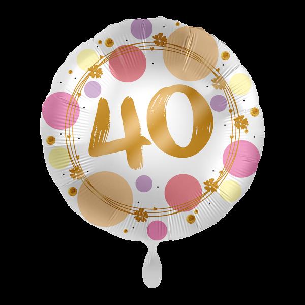 1 Ballon - Shiny Dots 40