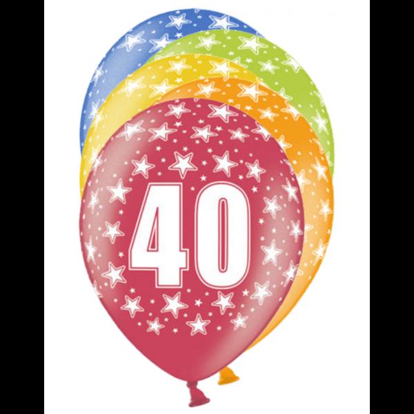 6 Motivballons - Ø 30cm - 40 Celebration