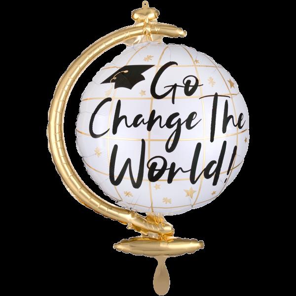 1 Ballon XXL - Go Change the World Globe