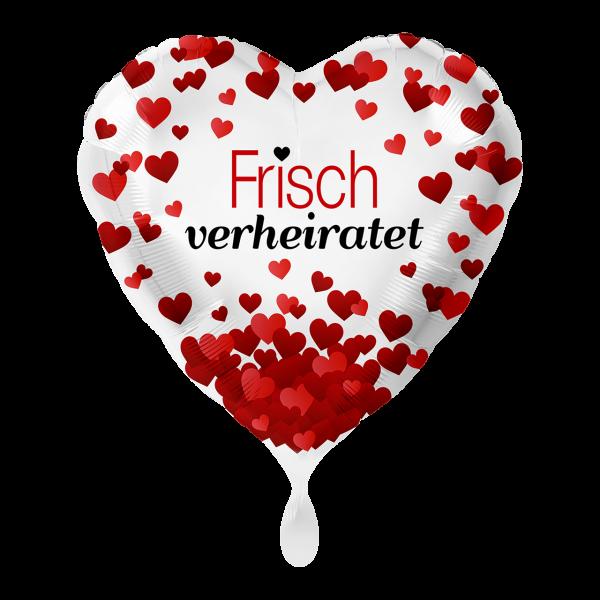 1 Ballon - Frisch Verheiratet Herzen