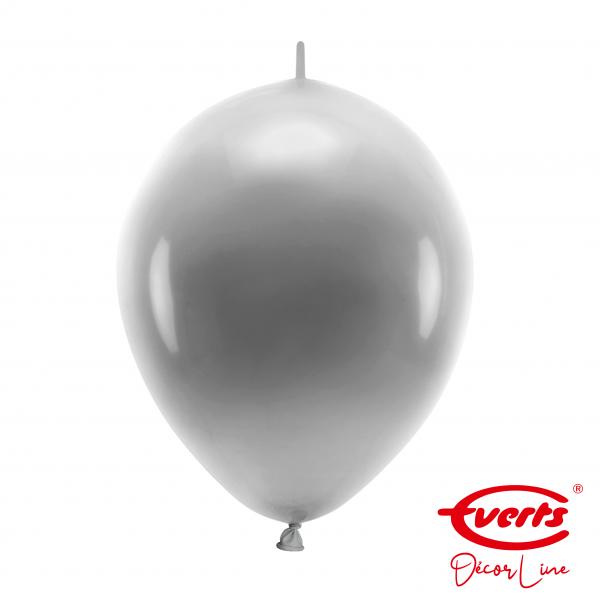 50 Girlandenballons - DECOR - Ø 30cm - Pearl & Metallic - Silver