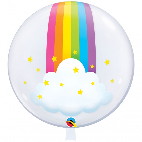 1 Deco Bubble Ballon XL - Rainbow Clouds