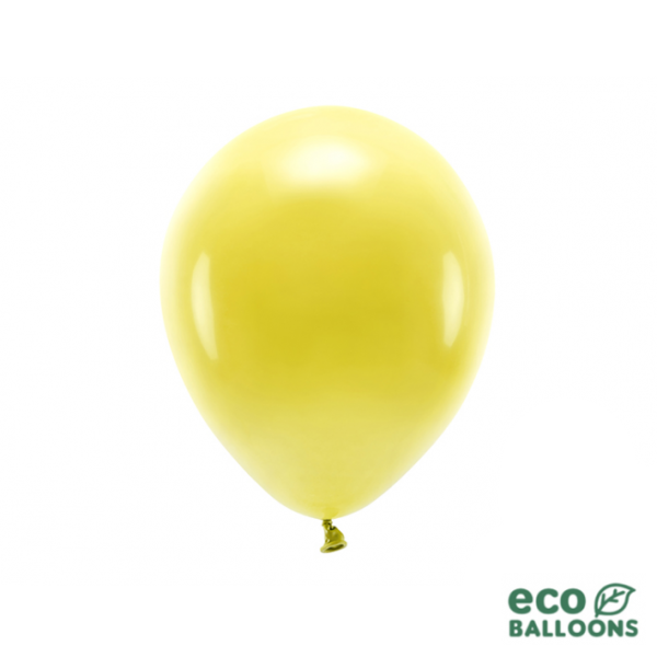 10 ECO-Luftballons - Ø 26cm - Dark Yellow