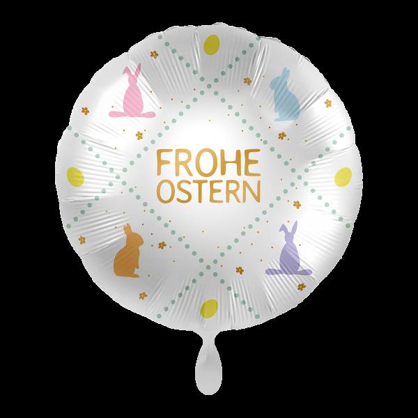 1 Ballon - Frohe Ostern Pastell