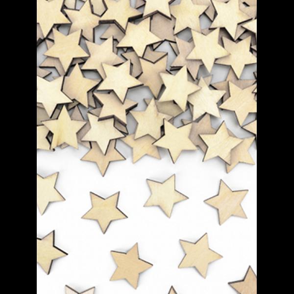 50 Holzkonfetti - Sterne