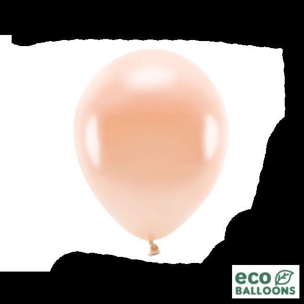 10 ECO-Luftballons - Ø 26cm - Metallic - Peach