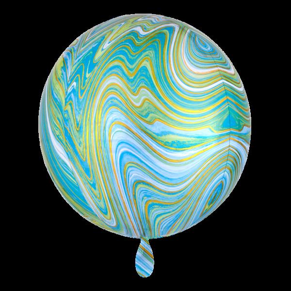 1 Ballon - Orbz - Blue Green Marblez