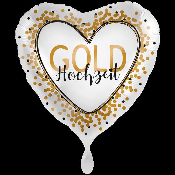 1 Ballon XXL - Goldhochzeit