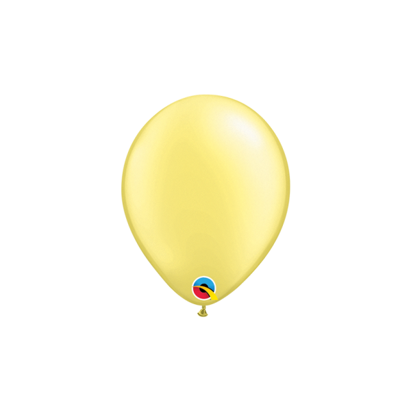 100 Miniballons - Ø 15cm - Pastel Pearl - Lemon Chiffon