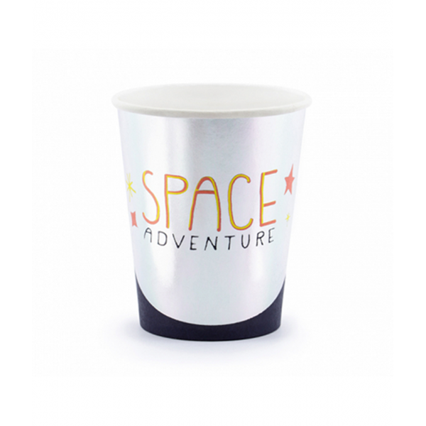 6 Pappbecher Trend - 200ml - Space Party