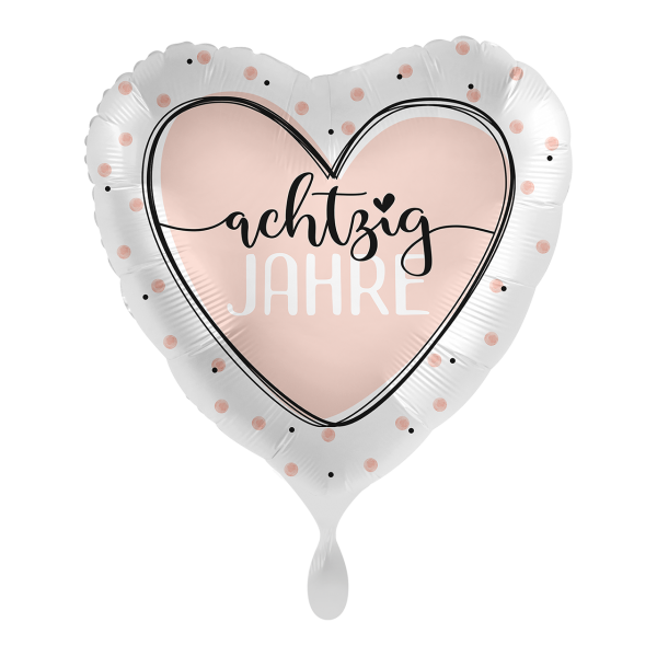 1 Ballon - Glossy Heart 80