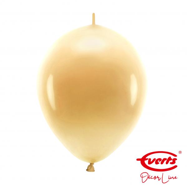 50 Girlandenballons - DECOR - Ø 30cm - Pearl & Metallic - Gold