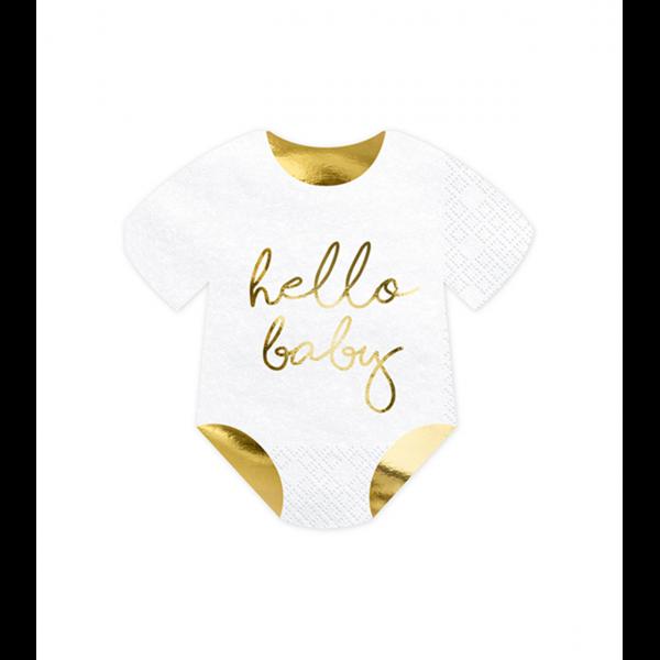 20 Servietten Trend - 16cm - Hello Baby