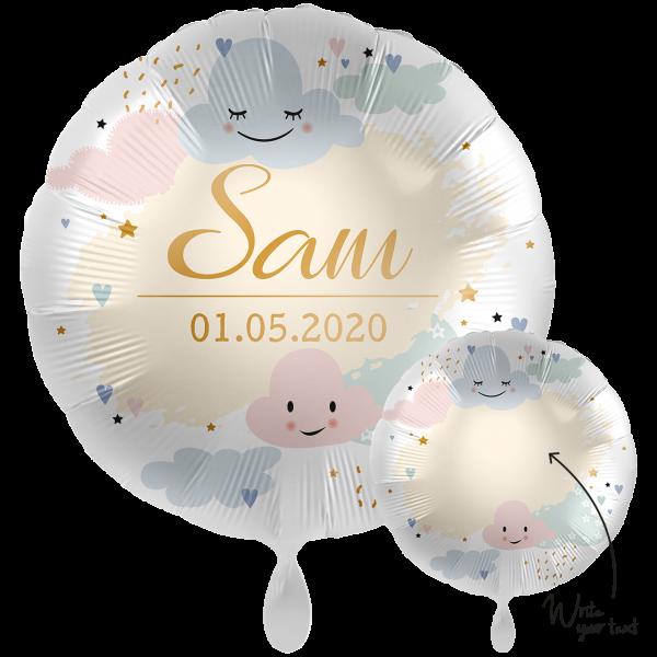 1 Ballon XXL - Personalize IT - Happy Clouds