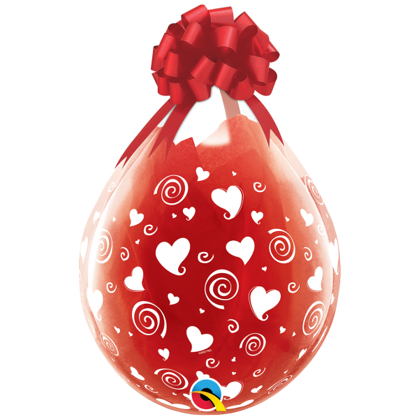 25 Stufferballons - Ø 45cm - Swirling Hearts