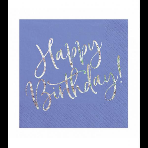 20 Servietten Trend - 33cm - Happy B'day