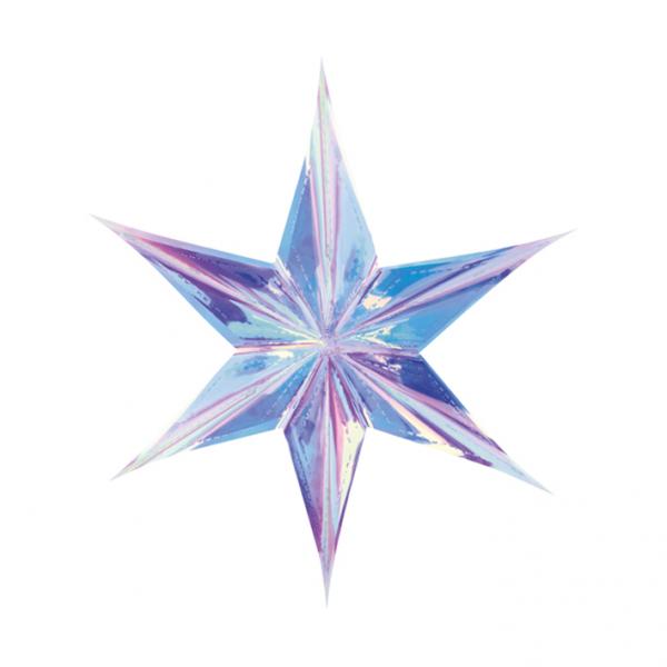 1 Foilstar - 40cm - Iridescent