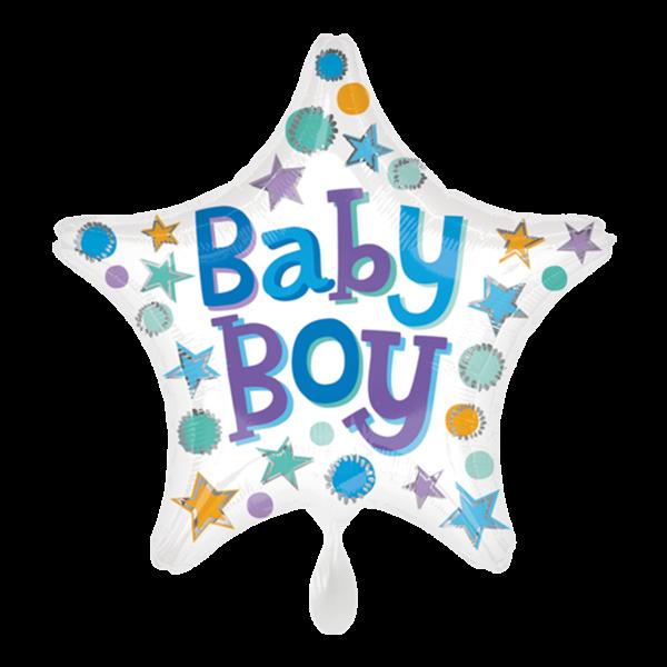 1 Ballon - Baby Boy Star