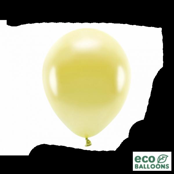 10 ECO-Luftballons - Ø 26cm - Metallic - Light Gold