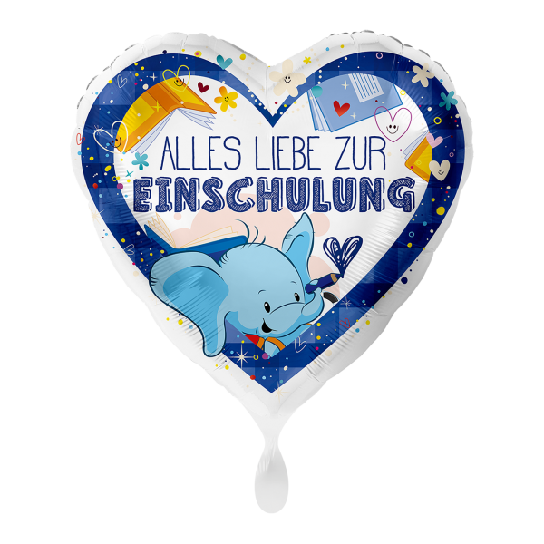 1 Ballon - Alles Liebe zur Einschulung Blau