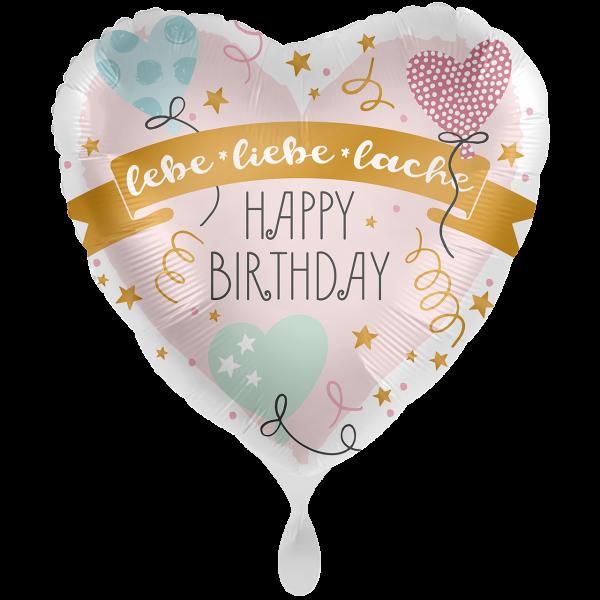 1 Ballon XXL - Birthday lebe liebe lache