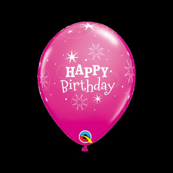 6 Motivballons - Ø 27cm - Birthday Sparkle Girl