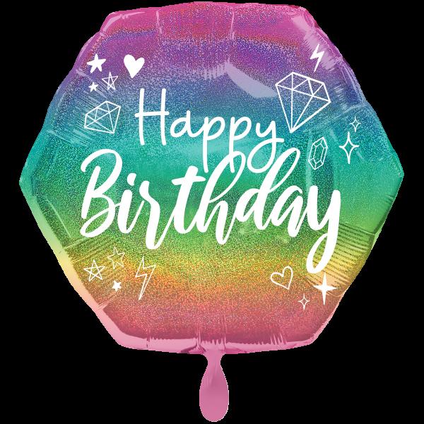 1 Ballon XXL - Sparkle Birthday