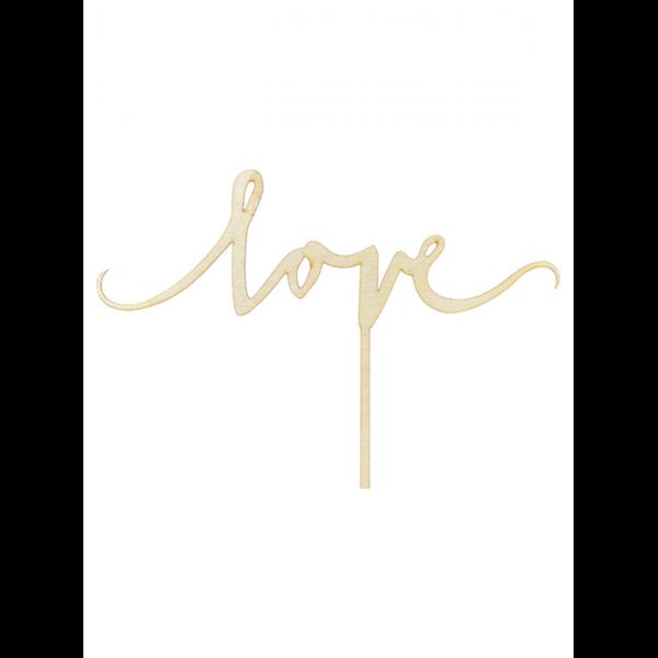 1 Cake Topper - Holz - Love
