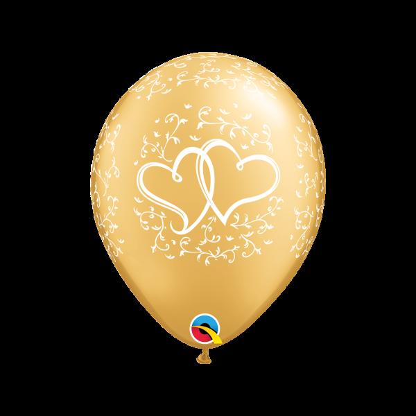 6 Motivballons - Ø 27cm - DECOR - Entwined Hearts