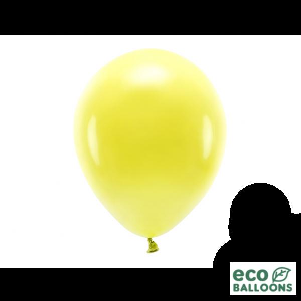 10 ECO-Luftballons - Ø 26cm - Yellow
