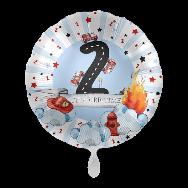 1 Ballon - Happy Fire Engine - Zwei
