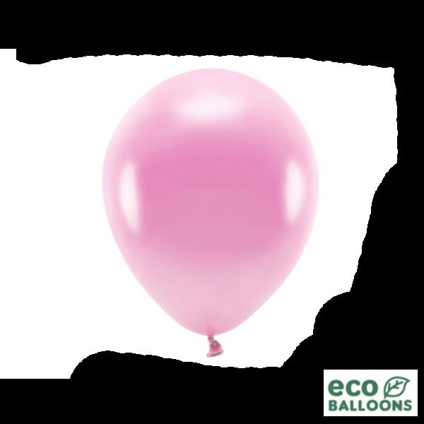 10 ECO-Luftballons - Ø 26cm - Metallic - Pink (Rosa)