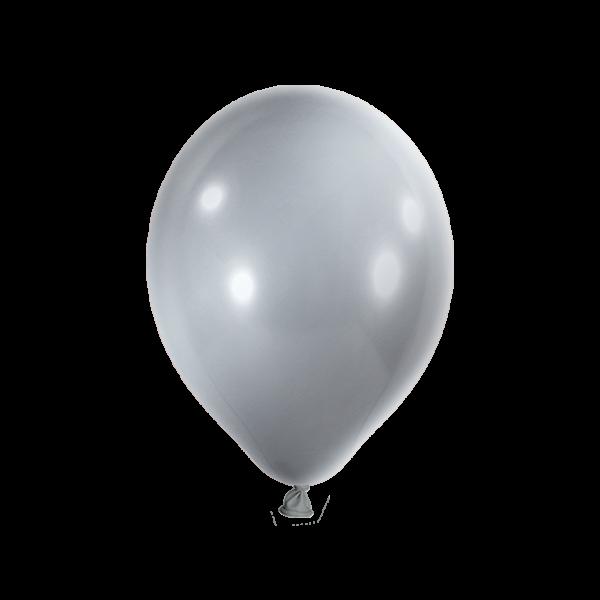 100 Luftballons - Ø 27cm - Metallic - Silber