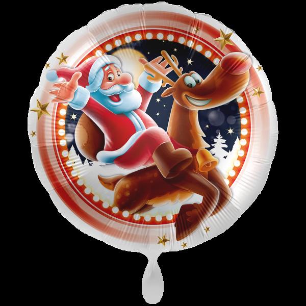 1 Ballon XXL - Santa & Rudolph
