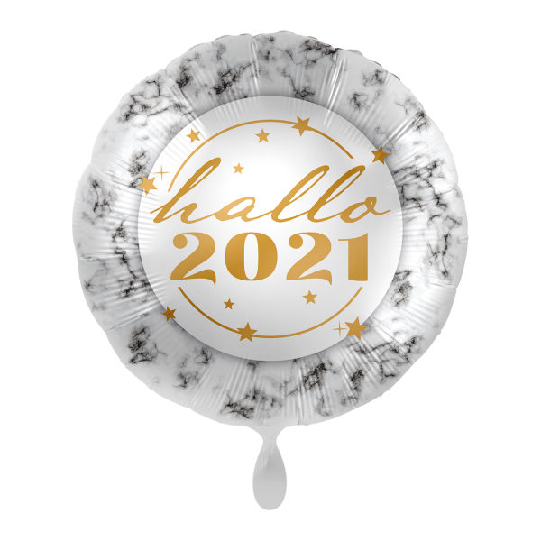 1 Ballon - Hallo 2021 Marble
