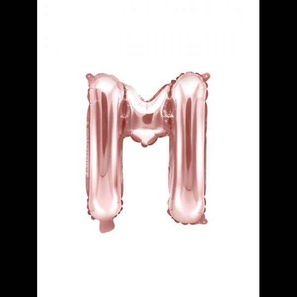 1 Ballon XS - Buchstabe M - Rosegold