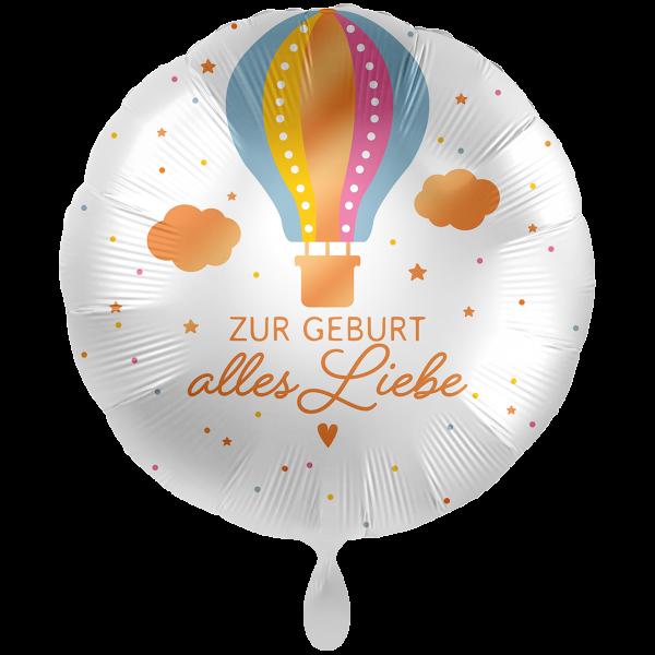 1 Ballon XXL - Zur Geburt Heißluftballon