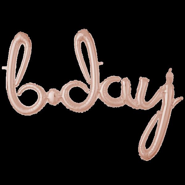 1 Ballon - Schriftzug b.day - Rosegold