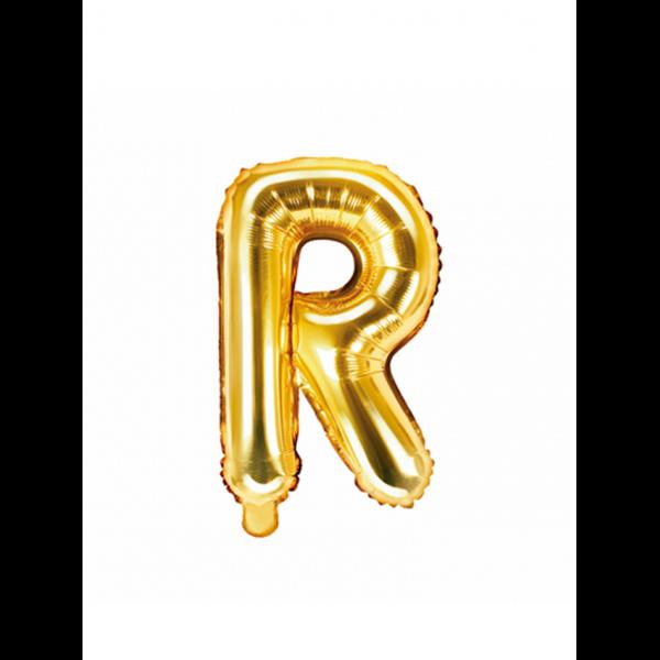 1 Ballon XS - Buchstabe R - Gold